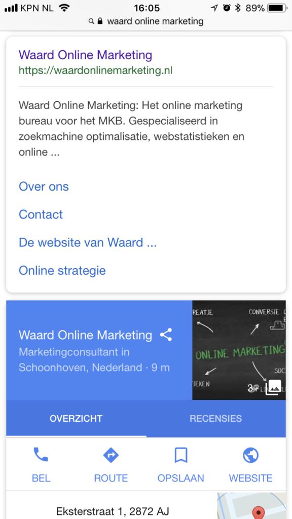 Nieuwe layout Google zoekresultaten