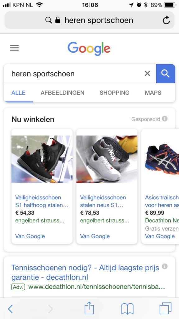 Nieuwe layout Google zoekresultaten 2