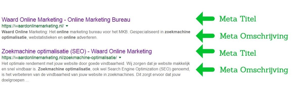 Langere meta omschrijving Google